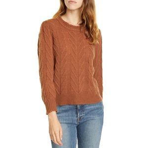 Joie Tenzin Cable Knit Wool Cashmere Sweater S NWT